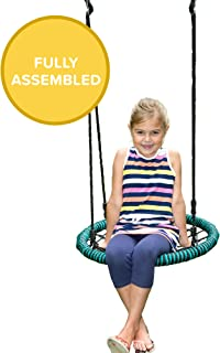 Play Platoon Spider Web Tree Swing - 24 Inch Diameter, 400 lb Weight Capacity, Fully Assembled, Easy to Install