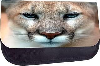 Rosie Parker TM Medium Sized Cosmetic Case-Made in the U.S.A.- Cougar Up-Close Print Design