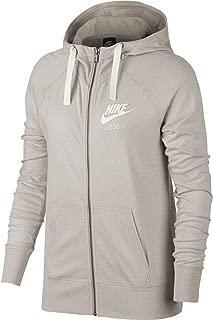 Nike Women's Sportswear Vintage Full Zip Hoodie (Oatmeal, XX-Large)
