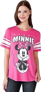 Disney Adult Junior Fashion Football Tee Minnie Mouse 28 Pink