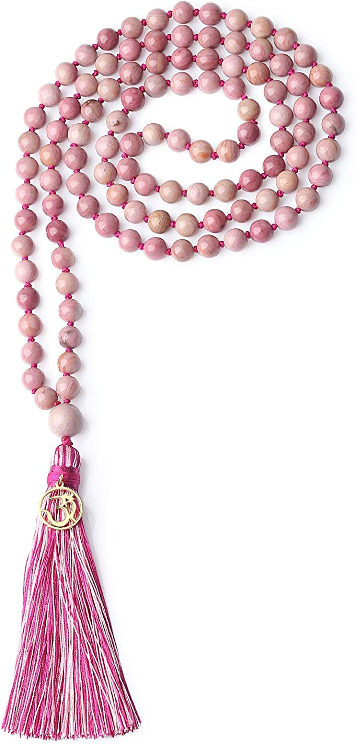 specialty shop COAI Hand Knotted Tassel 108 Yoga Mala Meditation Beads Special price Necklace