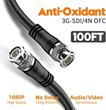 SDI Cable 100ft, BIFALE 3G HD-SDI Cable, Heavy Duty BNC to BNC Cable 75 Ohm, 1080P for Video Security Camera CCTV Systems Video Coaxial Cable