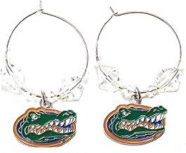 NCAA Licensed Clear Bead Hoop Dangle Earrings