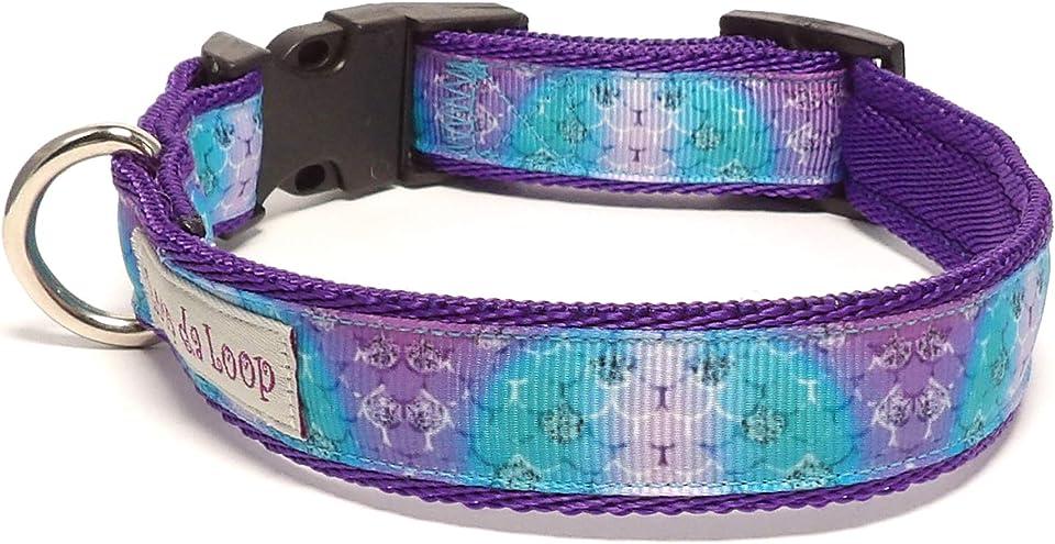 """Loop-da-Loop mermaid scales dog collar (Med - 14-20"""", 0.75"""" wide)"""
