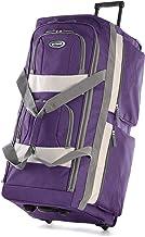 Olympia 8 Pocket Rolling Duffel Bag, Dark Lavender, 22 inch