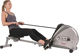 Sunny Health & Fitness Unisex Adult SF-RW5606 Elastic Cord Rowing Machine - Silver, One Size