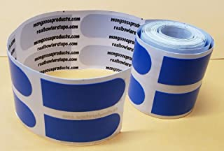 Real Bowler's Tape,  Roll of 100,  3/4 inch Blue/Smooth