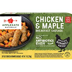 Applegate, Natural Chicken & Maple Breakfast Sausage, 7oz (Frozen)