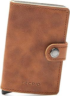 SECRID Mens Mini-wallet Vintage Cognac-Silver