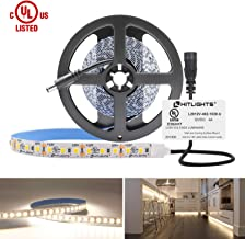 HitLights Neutral White LED Light Strip, Premium 2835-10 Feet, 360 LEDs, 4000K, 828 Lumens 5.6 Watt/Foot. UL-Listed. 12V DC Tape Light