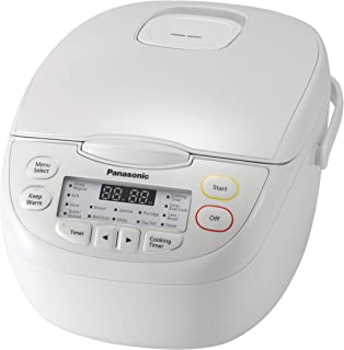 Panasonic 10-Cup Rice Cooker, White (SR-CN188WST)