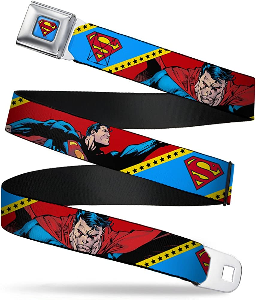 Buckle-Down Boys Seatbelt Belt Superman Wsm069