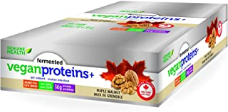 Genuine Health Fermented Vegan Proteins+ Maple Walnut, 12 x 55g Bars