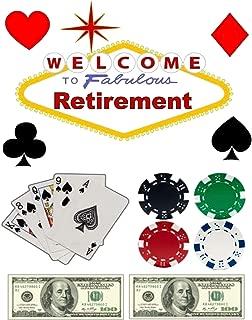 Las Vegas Casino Retirement - Edible Cake/Cupcake Party Topper!!! (1/2 Sheet (10x16 inchs))