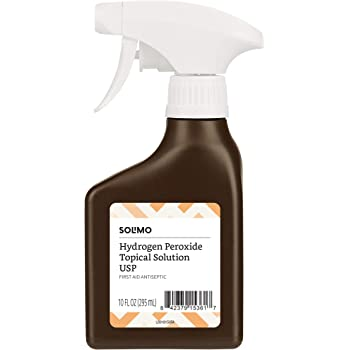 Amazon Brand - Solimo Hydrogen Peroxide Topical Solution USP Spray Bottle, 10 Fl. Oz