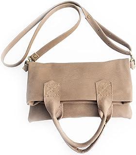 Crossbody bag / Borsa tracolla / borsa in pelle, in morbida pelle italiana marrone chiaro. Laura Crossbody bag