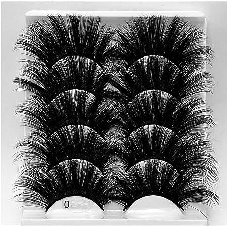Amazon Com Hbzgtlad New 5pair Fluffy Lashes 25mm 3d Mink Lashes Long Thick Natural False Eyelashes Lashes Vendors Makeup Mink Eyelashes 5d80 Beauty