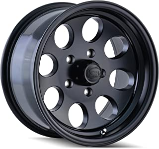 Ion Alloy Style 171 Matte Black Wheel with Machined Lip (17x9