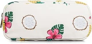 H HIKKER-LINK Womens Pineapple Printed Pencil Case Canvas Pen Pouch Cute Handbag Makeup Bag Beige