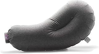 Aubergine Pillow 一息で簡単に膨らむエアーピロー テレビ番組「王様のブランチ」 紹介されたピロー 携帯枕 旅行 オフィスなどでコンパクトで収納袋付き 安眠グッズ