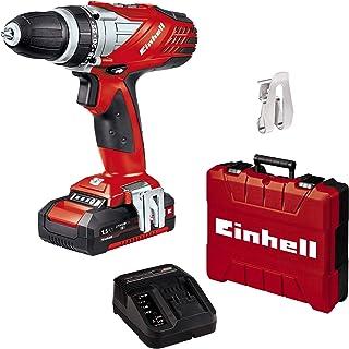 Einhell TE-CD 18 Li Set Power X-Change (Li-Ion, 18 V, 2 växlar, 48 Nm, LED-ljus, fodral, innehåller 1,5 Ah batteri och lad...