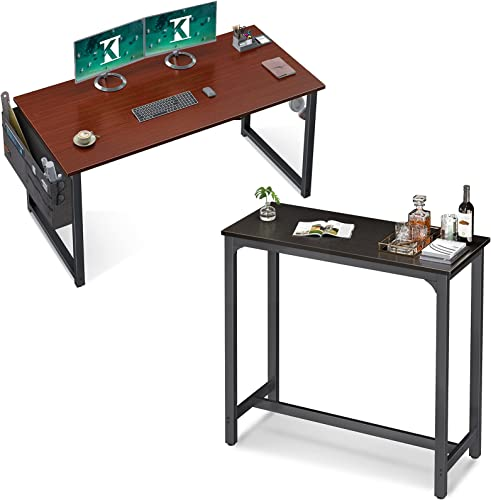 """wholesale ODK 2021 Computer Writing Desk 39 inch Teak & ODK 39"""" Bar Table Easy-to-Clean Top Quick Assembly, online Black online"""