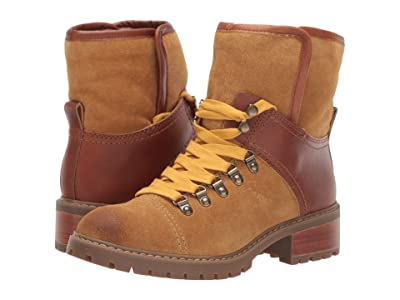 FRYE AND CO. Anise Hiker (Cognac Suede/Smooth Full Leather) Women