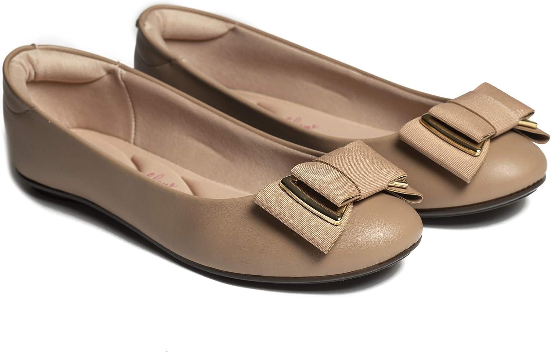 特価 MOLECA Beige Flat Ballet Flexible ランキングTOP5 Designed for Comfortable A and
