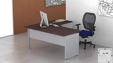 Fumu SF007 Promo Scrivania Ufficio Legno lineare operativa l.120xp.80xh.72 Acero//Bianco, 120