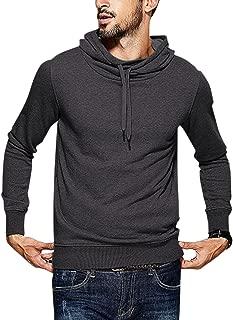 Mens Hoodies Fashion Sweatshirts Soft Drawstring Pullover Sweatshirt