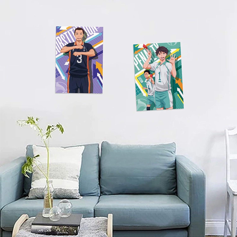 Asahi Azumane Salemor Haikyuu! Poster 12X16 Cartoon Anime Characters Poster Room Painting Home Decoration Wall Art Poster Gift for Anime Fans
