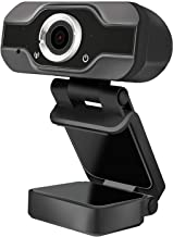 HD Webcam, Laptop Desktop USB Webcam HD 1080P with Microphone Wide View Angle USB Computer Web Camera for Video Calling Co...