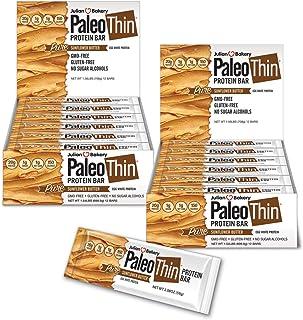 Sponsored Ad - Julian Bakery Paleo Thin Protein Bar   Sunflower Butter   Egg White Protein   20g Protein   1 Net Carb   24...