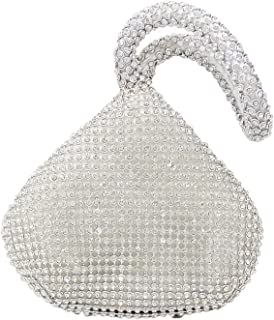 Luxury Bling Triangle Mini Clutch Purse Women Evening Handbags with Crystals