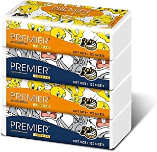 Premier Deluxe Looney Tunes Soft Pack 3 Ply, 120 count