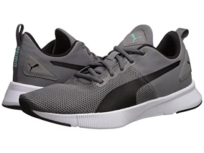 PUMA Flyer Runner (Charcoal Gray/Puma Black/Blue Turquoise) Men