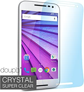 doupi 9X Ultrathin Screen Protective Film for Motorola Moto G (3.Gen.) G3 Crystal Super Clear Glossy Shiny Smooth Display Protector Foil (9X Screen Protective Film)