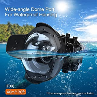 Sea frogs 防水 魚眼レンズ 8'' レンズ 広角レンズ ソニー A7II ケース用 28-70mm/16-35mm/24-70mm Panasonic GH5 ケース用 12-60 mm レンズ対応 カメラレンズキット 防水性能40m 水中撮影用 国際防水等級IPX8 簡単装着