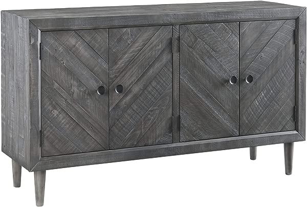 Signature Design By Ashley D568 60 Besteneer Dining Room Server Dark Gray