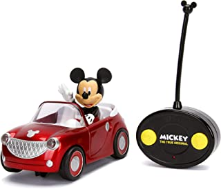Jada Toys Disney The True Original Mickey Mouse Roadster Car RC/Radio Control Toy Vehicle, Red