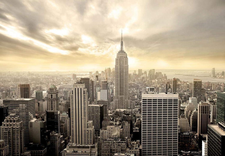 Fototapete Shining Manhattan 366x254 cm Tapete Skyline USA New York deco als