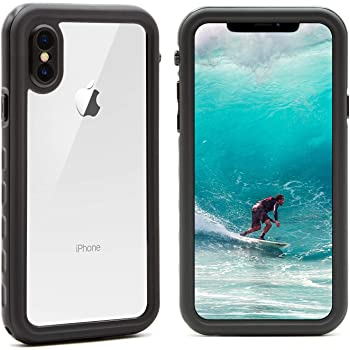 Funda para iPhone XS Funda para iPhone X, IP68 Funda impermeable para iPhone X/XS con Kickstand Absorción de Choque Resistente iPhone X Funda iPhone XS Funda Ideal para Buceo, Esquí y Natación