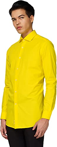Opposuits jaune FelFaible Fitted Button-up Shirt with manche longues for Hommes