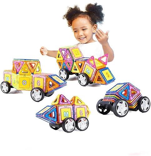 SEJNGF Kinder Bausteine Spielzeug Montiert Magnetische Tabletten Magnetische Auto Jungen Und mädchen 3-6 Jahre Alt