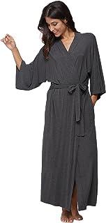 KimonoDeals Women s dept Soft Sleepwear Modal Cotton Wrap Bathrobe Long  Kimono Robe defd80a2b