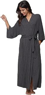 KimonoDeals Women's dept Soft Sleepwear Modal Cotton Wrap Bathrobe Long Kimono Robe