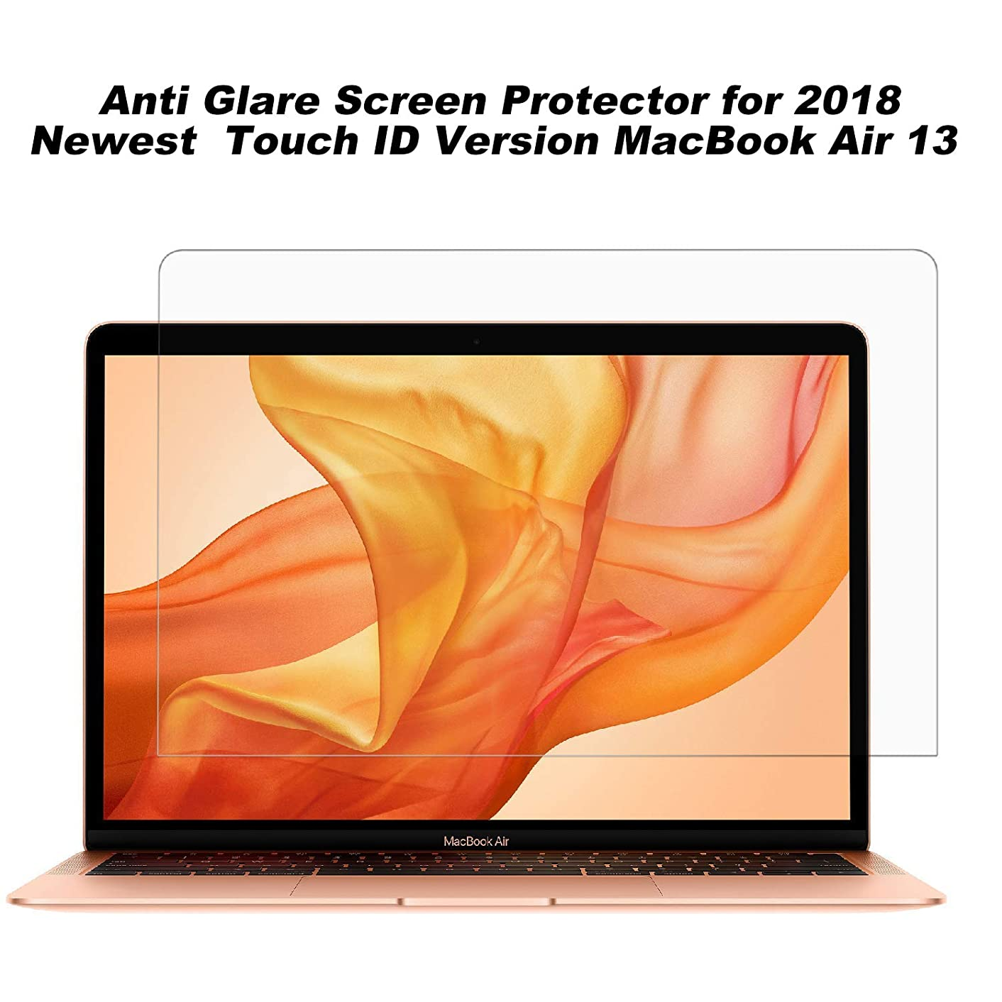 2 Pack Anti Glare Screen Protector Compatible for 2018 Newest MacBook Air 13 with Touch ID Version A1932 (Matte)