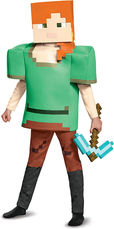 Alex Deluxe Minecraft Costume, Multicolor, Medium (12-12)