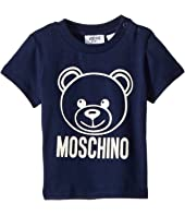 Moschino Kids - Short Sleeve Logo Teddy Bear T-Shirt (Infant/Toddler)