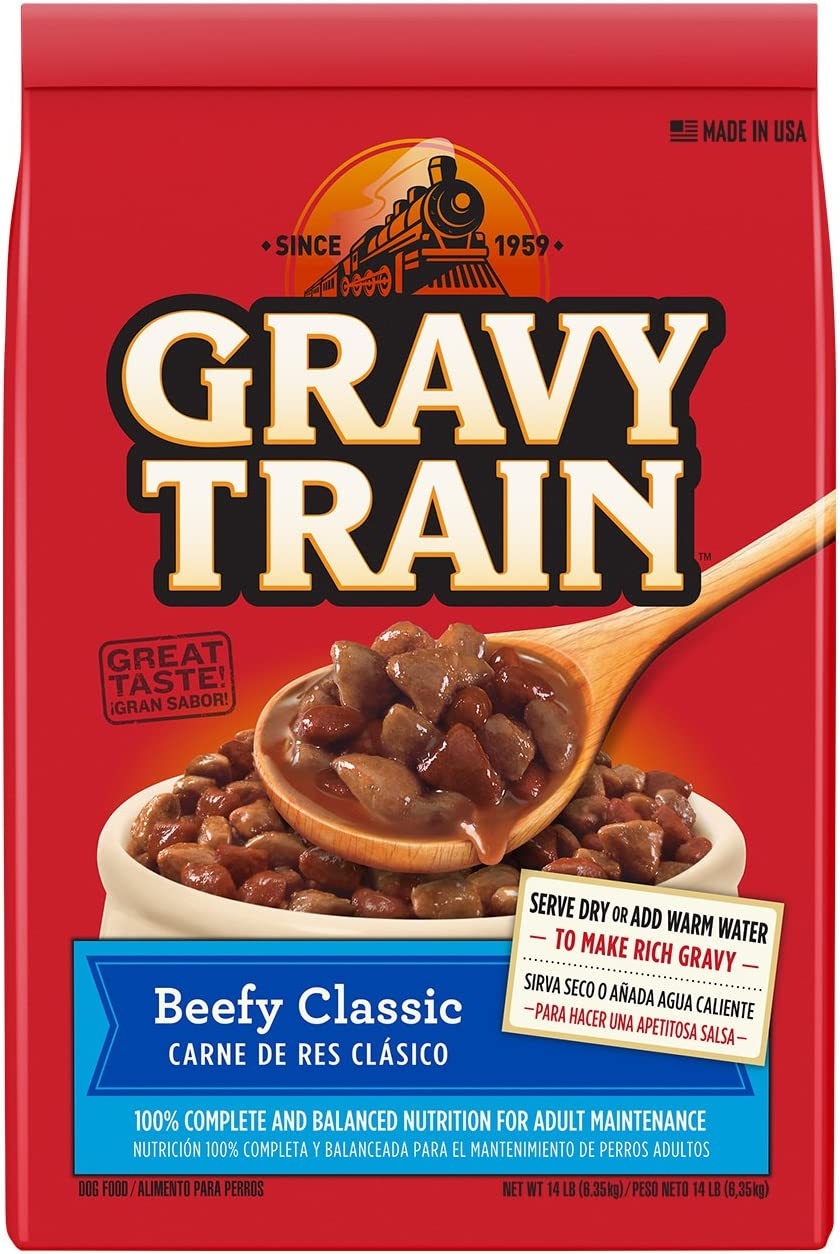 Gravy Train Beefy Classic Dry Dog Food, 14-Pound